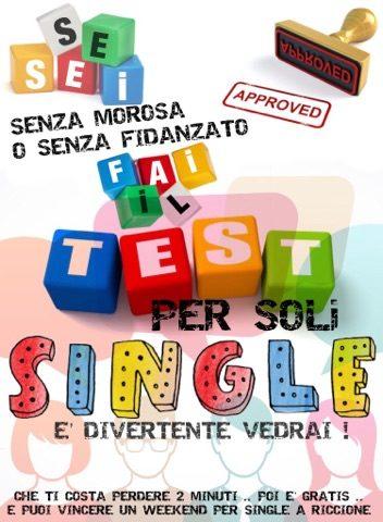 fai il Test e Scopri se riuscirai a partecipare Gratis allo Stage nel Weekend per soli Single a Riccione